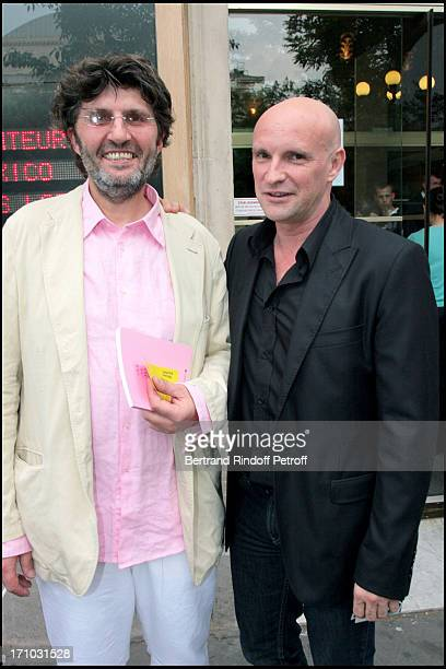"""Philippe Guillotel, outfits and Jean Christophe Maillot, choreographer and director of the Monte Carlo Ballets - Premiere of the play """"La Belle"""" of..."""
