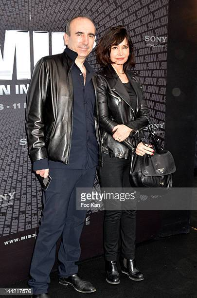 Philippe Harel and Evelyne Bouix attend the Men In Black 3 European Premiere At Le Grand Rex on May 11 2012 in Paris France