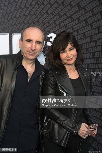 Philippe Harel and Evelyne Bouix attend the Men In Black 3 European Premiere at Le Grand Rex in Paris