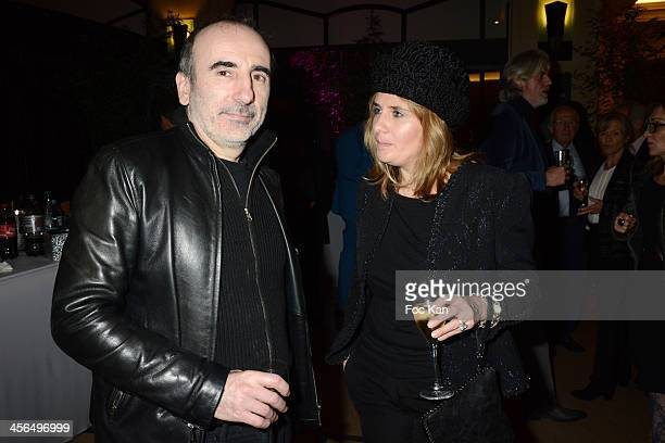Philippe Harel and Marie Amelie Seigner attend the 'Coffret Divinatoire by Yaguel Didier' Book Launch Party At Elie Bleu Shop on December 13 2013 in...