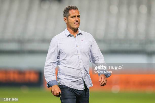 Philippe Hinschberger head coach of Grenoble during the French Ligue 2 match between Lorient and Grenoble at Stade du Moustoir on September 3 2018 in...