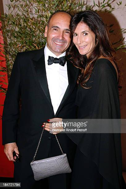 Philippe Journau and his wife attend AROP Gala at Opera Bastille with a representation of 'Aida' on October 15 2013 in Paris France