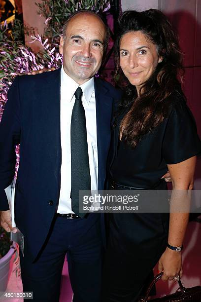Philippe Journo and his wife attend the AROP Charity Gala with play of 'La Traviata' Held at Opera Bastille on June 5 2014 in Paris France