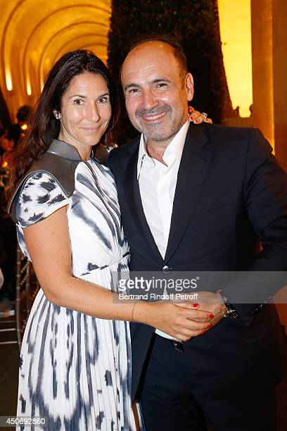 Philippe Journo and his wife attend the private tour and dinner of the Lee Ufan's Exhibition at Chateau de Versailles on June 15 2014 in Versailles...
