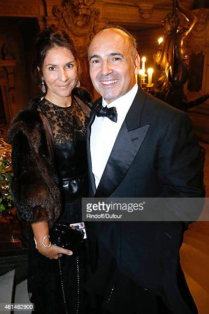 Philippe Journo and his wife attend Weizmann Institute celebrates its 40 Anniversary at Opera Garnier in Paris on January 12 2015 in Paris France