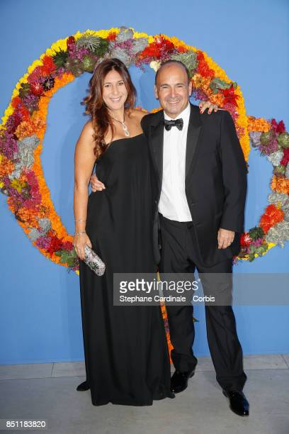 Philippe Journo and his wife Co President of Opening Gala Karine attends the Opening Season Gala at Opera Garnier on September 21 2017 in Paris France