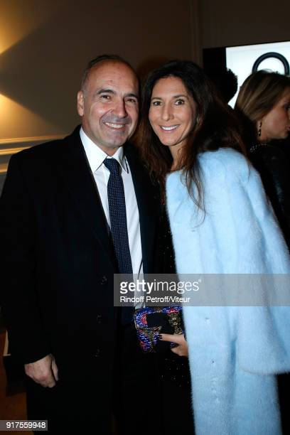 Philippe Journo and his wife Karine attend the Charity Gala against Alzheimer's disease Cocktail at Hotel Salomon de Rothschild on February 12 2018...