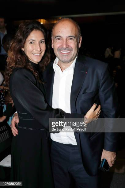 Philippe Journo and his wife Karine Journo attend 'Cendrillon' choregraphing by Rudolf Noureev during 'Reve d'Enfant' Charity Gala at Opera Bastille...