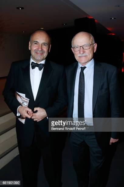 Philippe Journo and Mayor of Metz Dominique Gros attend the AROP Charity Gala with the representation of 'Carmen' at Opera Bastille on March 10 2017...