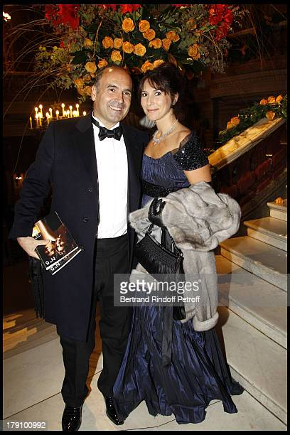 Philippe Journo and wife at The L'Arop Gala Evening Featuring A Performance From The Handel Opera Giulio Cesare At The Palais Garnier In Paris