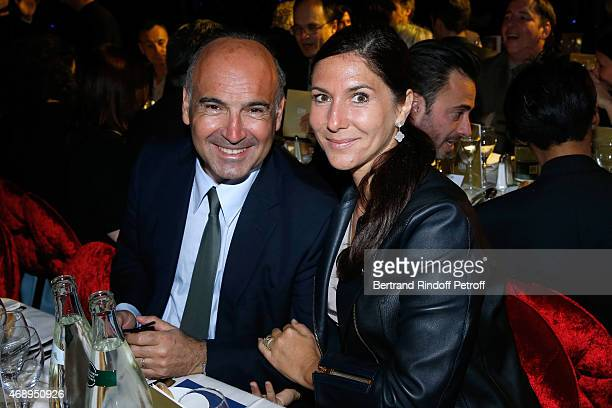 Philippe Journo and wife attend the 'Paris Merveilles' Lido New Revue Opening Gala on April 8 2015 in Paris France