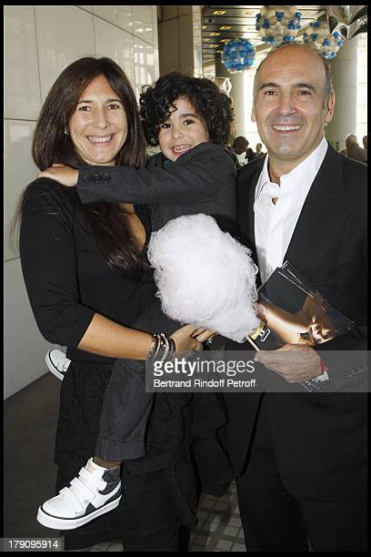 Philippe Journo and wife Karine and their children at The Reve D'Enfants Matinee Performance Of Swan Lake At The Opera Bastille Featuring Rudolf...