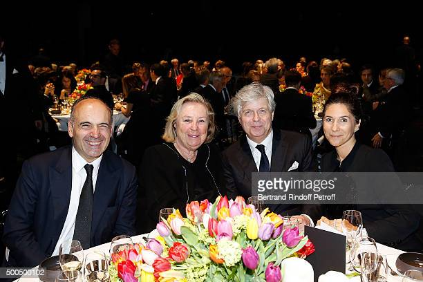 Philippe Journo Maryvone Pinault Stephane Lissner and Mrs Journo attend the gala of AROP and the Representation of 'La Damnation de Faust' at Opera...
