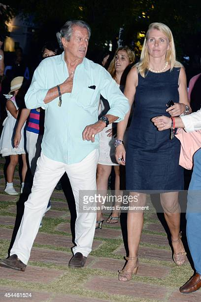 Philippe Junot and Nina Junot attend Land Rover Trophy delivery of 43th International Polo Tournament on August 30 2014 in Sotogrande Spain