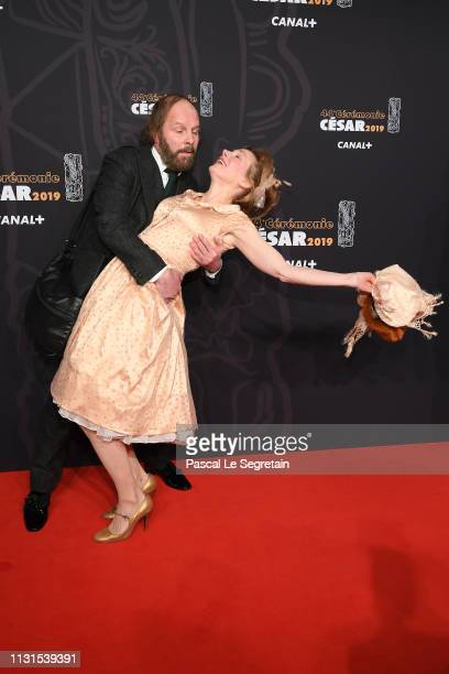 Philippe Katerine and Julie Depardieu attend Cesar Film Awards 2019 at Salle Pleyel on February 22 2019 in Paris France