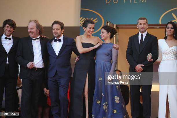 Philippe Katerine Jonathan Zaccai Melanie Doutey Noee Abita Guillaume Canet and Leila Bekhti attend the screening of Sink Or Swim during the 71st...