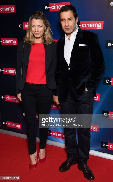 Philippe Kelly and a guest attend 'ecinemacom' Launch Party at Restaurant L'Ile on November 30 2017 in IssylesMoulineaux France