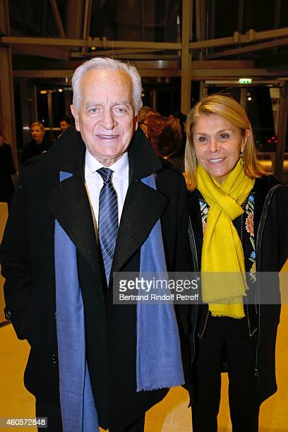 Philippe Labro and his wife Francoise Coulon attend the 'Fondation Claude Pompidou' Charity Party at Fondation Louis Vuitton on December 16 2014 in...