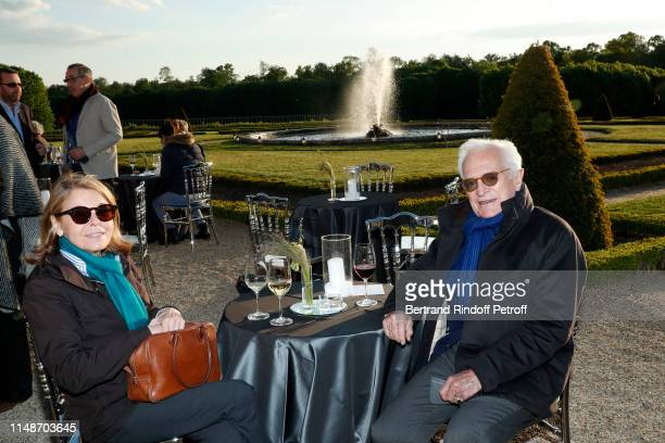 Philippe Labro and his wife Francoise Coulon attend the Visible Invisible Exhibition at Chateau de Versailles on May 12 2019 in Versailles France