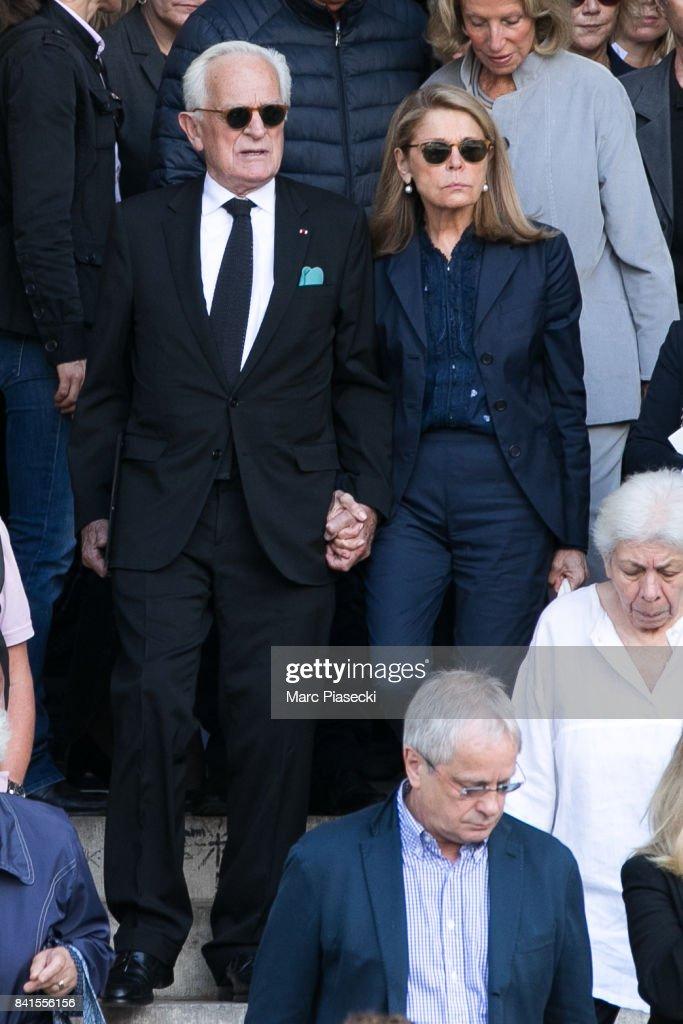 Mireille Darc's Funerals At Eglise Saint Sulpice In Paris