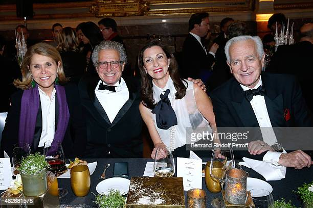 Philippe Labro his wife Francoise Coulon Miss David Khayat and Laurent Dassault attend the David Khayat Association 'AVEC' Gala Dinner Held at...