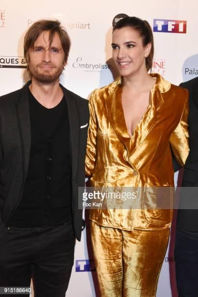 Philippe Lacheau and Charlotte Gabris attend the Trophees du Film Francais 2018 at Palais Brogniart on February 6 2018 in Paris France