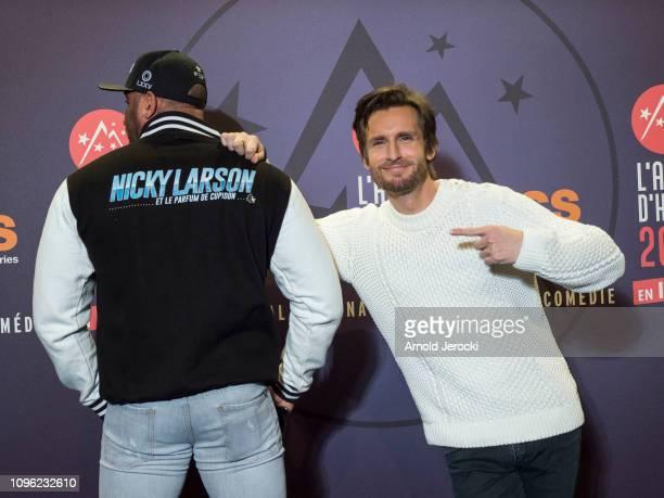 Philippe Lacheau attends 'Nicky Larson et le parfum de Cupidon' premiere during the 22nd L'Alpe D'Huez International Comedy Film Festival on January...