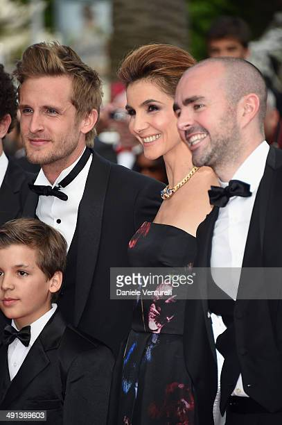 Philippe Lacheau Enzo Tomasini Clotilde Courau and Julien Arruti attend the How To Train Your Dragon 2 Premiere at the 67th Annual Cannes Film...
