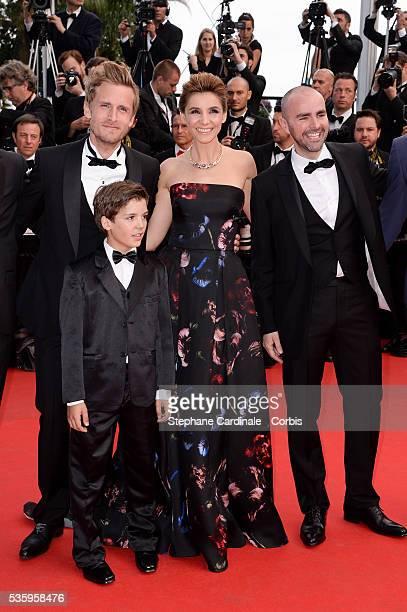 Philippe Lacheau Enzo Tomasini Clotilde Courau Julien Arruti at the Dragon 2 premiere during the 67th Cannes Film Festival