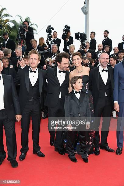 Philippe Lacheau Nicolas Benamou Clotilde Courau Enzo Tomasini Julien Arruti attend the How To Train Your Dragon 2 Premiere at the 67th Annual Cannes...