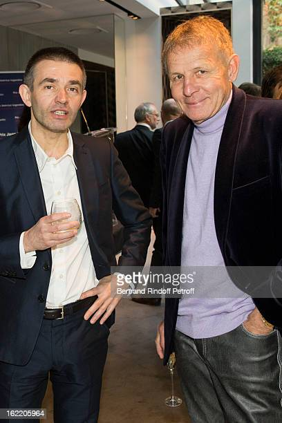 Philippe Lancon Prize Laureate And Patrick Poivre Darvor Attend The Prize Winning Ceremony For