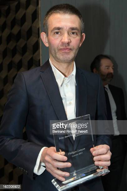 Philippe Lancon Prize Laureate Poses With His Trophy As He Attends The Prize Winning Ceremony For