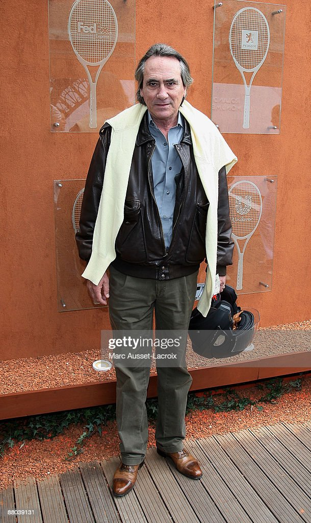 Philippe Lavil arrives at 'Le Village' during the 2009 French Tennis Open at Roland Garros arena on May 28, 2009 in Paris, France.