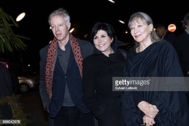 Philippe Le Guay Liane Foly and Marina Vlady attend opening ceremony during Valenciennes Film Festival on March 21 2018 in Valenciennes France