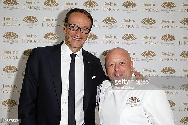 Philippe Leboeuf and Thierry Marx attend 'J'aime La Mode 2014' party in Mandarin Oriental as part of the Paris Fashion Week Womenswear Spring/Summer...