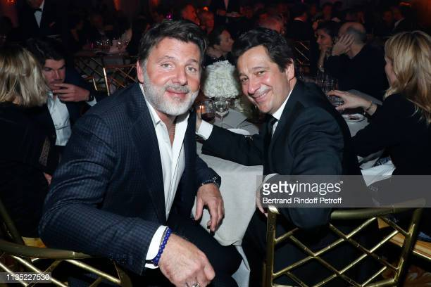 Philippe Lellouche and Laurent Gerra attend the Stethos d'Or 2019 Charity Gala of the Foundation for Physiological Research at on March 11 2019 in...