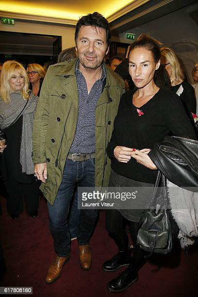Philippe Lellouche and Vanessa Demouy attend 'L'Heureux Elu' theater play premiere at Theatre de La Madeleine on October 24 2016 in Paris France