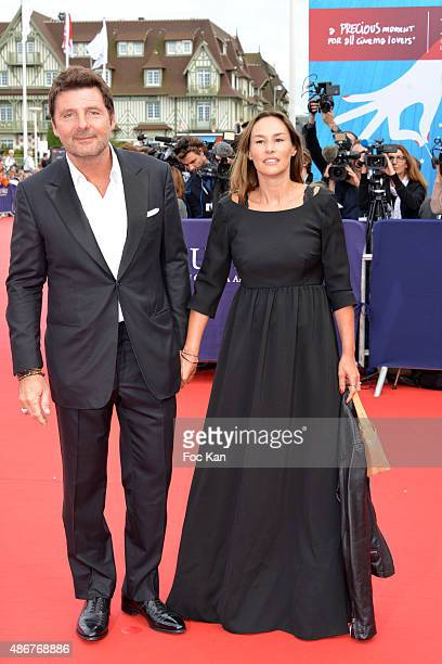 Philippe Lellouche and Vanessa Demouy attend the 41st Deauville American Film Festival Opening Ceremony at the CID on September 4 2015 in Deauville...
