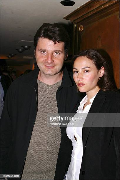 Philippe Lellouche and wife Vanessa Demouy in Paris France on May 06th 2004
