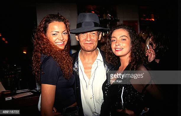 Philippe Leotard and guests attend a fashion week Party at Les Bains Douches in the 1990s in Paris France