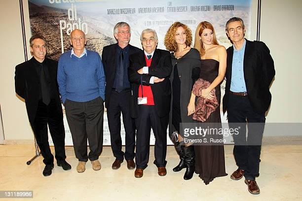 Philippe Leroy Gianni Bissaca guest director Salvatore Nocita Valentina Valsania Milena Miconi and guest attend the La Strada Di Paolo QA during the...