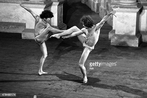 Philippe Lizon and Jorge Donn in the ballet I was born to Venise choreographed and realized by Maurice Bejart