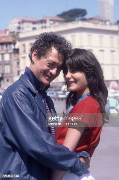 Philippe Léotard et Ariel Besse au Festival de Cannes en mai 1982 France