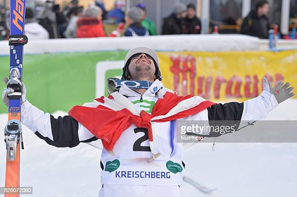 Philippe Marquis from Canada takes a Silver medal in Dual Moduls Final at FIS Freestyle World SKI CHampionship 2015 in Kreischberg Austria 19 January...