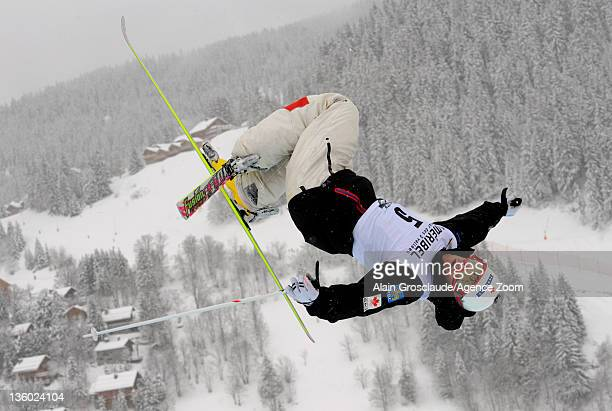 Philippe Marquis of Canada during the FIS Freestyle Ski World Cup Dual Moguls on December 20, 2011 in Meribel, France.