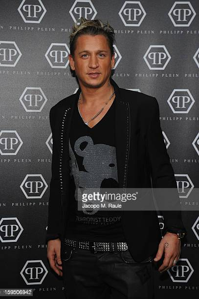 Philippe Mexes arrives at the Philipp Plein show during Milan Fashion Week Menswear Autumn/Winter 2013 on January 14 2013 in Milan Italy