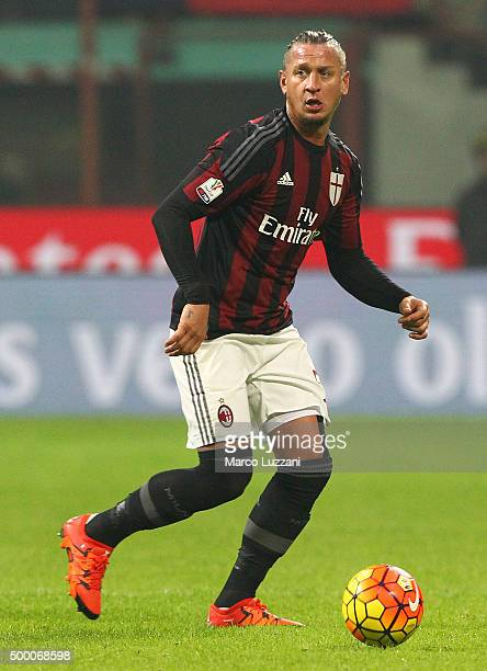 Philippe Mexes of AC Milan in action during the TIM Cup match between AC Milan and FC Crotone at Stadio Giuseppe Meazza on December 1 2015 in Milan...