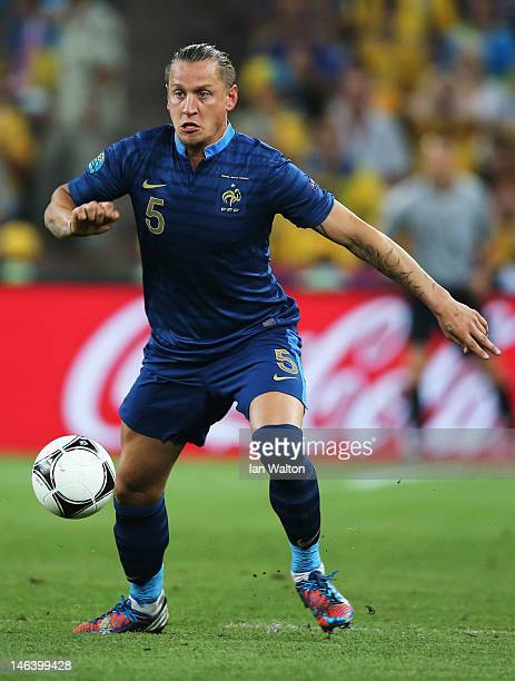 Philippe Mexes of France in action during the UEFA EURO 2012 group D match between Ukraine and France at Donbass Arena on June 15 2012 in Donetsk...