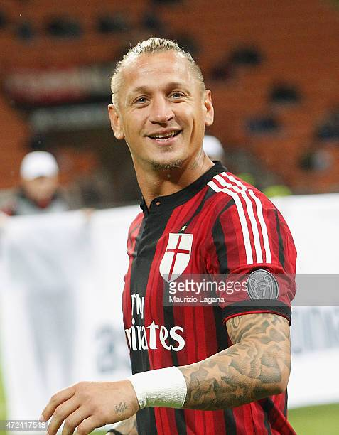 Philippe Mexes of Milan during the Serie A match between AC Milan and Genoa CFC at Stadio Giuseppe Meazza on April 29 2015 in Milan Italy