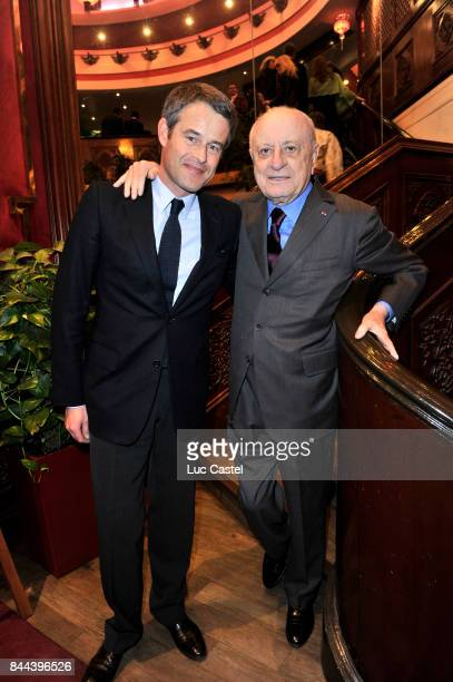 Philippe Mugnier and Pierre Berge attend the 'Pierre Gilles' event at President on March 29 2012 in Paris France